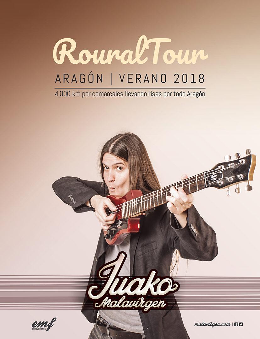Juako Malavirgen Roural Tour | 4.000 km comedia por Aragón